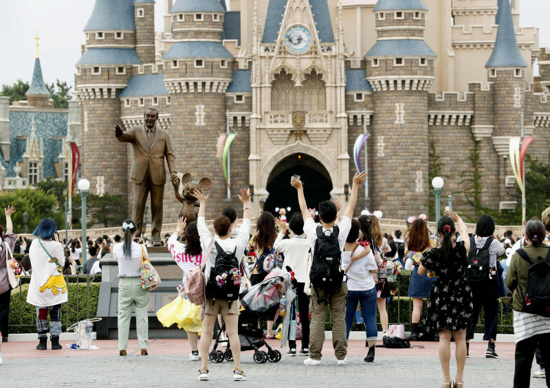 Tokyo Disneyland reopened for the first time in four months after suspending operations due to coronavirus concerns. Source: AP