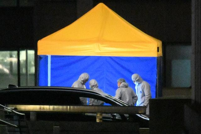 Forensic officers at the scene of the terror attack on London Bridge