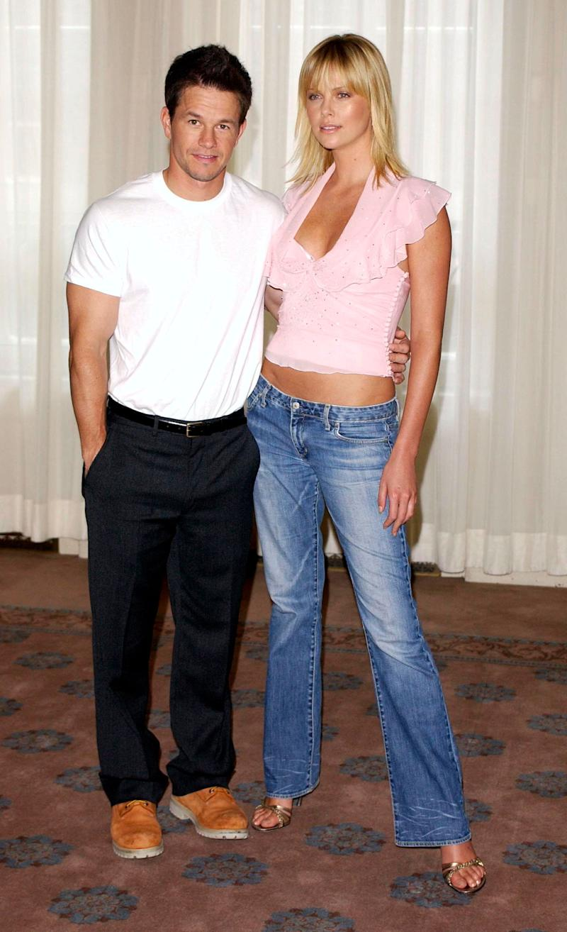 """Mark Wahlberg and Charlize Theron promoting """"The Italian Job."""" (Photo: Rune Hellestad - Corbis via Getty Images)"""