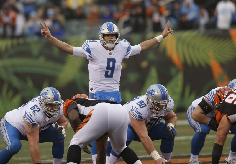Detroit Lions quarterback Matthew Stafford played well, but wasn't able to carry his team back to the playoffs. (AP)