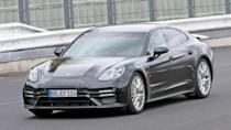 """<p>The car in these photos is allegedly the version of the <a href=""""https://www.motor1.com/porsche/panamera/"""" rel=""""nofollow noopener"""" target=""""_blank"""" data-ylk=""""slk:Porsche Panamera"""" class=""""link rapid-noclick-resp"""">Porsche Panamera</a> with the codename """"Lion."""" With power as high as 750 horsepower (559 kilowatts) and as much as 550 pounds (250 kW) of weight loss, it might be the quickest four-door ever around the Nürburgring.</p> <h3><a href=""""https://www.motor1.com/news/436123/porsche-panamera-lion-nurburgring-lap/"""" rel=""""nofollow noopener"""" target=""""_blank"""" data-ylk=""""slk:Hot Porsche Panamera 'Lion' May Have Just Set A Nürburgring Lap Record"""" class=""""link rapid-noclick-resp"""">Hot Porsche Panamera 'Lion' May Have Just Set A Nürburgring Lap Record</a></h3> <h2>See What Existing Panameras Can Do:</h2><br><a href=""""https://www.motor1.com/news/400141/porsche-panamera-hybrid-drag-race-bmw-330e/"""" rel=""""nofollow noopener"""" target=""""_blank"""" data-ylk=""""slk:See Panamera Turbo S E-Hybrid Drag Race BMW 330e In Electric Mode"""" class=""""link rapid-noclick-resp"""">See Panamera Turbo S E-Hybrid Drag Race BMW 330e In Electric Mode</a><br><a href=""""https://www.motor1.com/news/429539/porsche-panamera-gts-top-speed/"""" rel=""""nofollow noopener"""" target=""""_blank"""" data-ylk=""""slk:Porsche Panamera GTS Remains Composed During Autobahn Top Speed Run"""" class=""""link rapid-noclick-resp"""">Porsche Panamera GTS Remains Composed During Autobahn Top Speed Run</a><br>"""