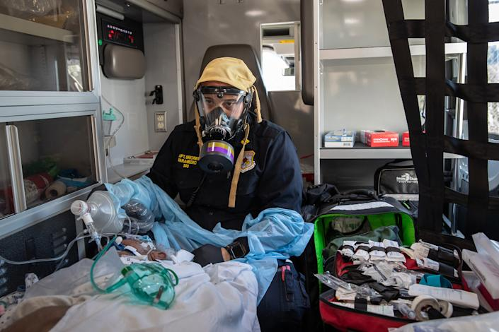 Tri-State EMS Workers Confront Growing Number Of Coronavirus Cases (John Moore / Getty Images)