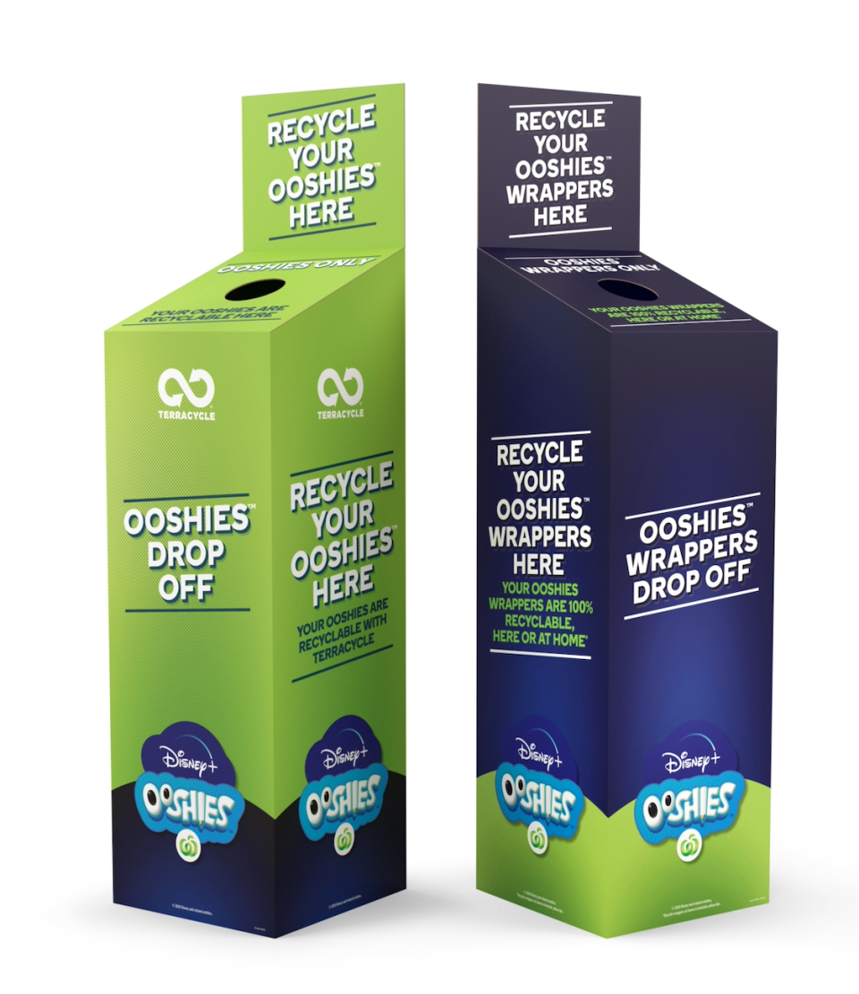 Woolworths' TerraCycle bins where shoppers will be able to recycle Ooshies.