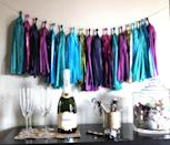 """<div class=""""caption-credit""""> Photo by: The Glitter Guide</div><div class=""""caption-title"""">Tassel Garland</div>I've been seeing these tassel garlands everywhere and can't think of a more perfect occasion to make one than that of a New Year's Party! They're just so trendy and eye-popping. <br> <i><a href=""""http://www.babble.com/babble-voices/celebrations-with-design-mom-gabrielle-blair/2012/12/21/new-years-celebrations/?cmp=ELP