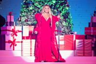 <p>We don't want a lot for Christmas, but a timeless, flattering honey blonde like Mariah Carey's might make the list. Mariah has ranged from super pale blonde to deeper tones of honey, but her shade is always warm, beachy, and has well-placed highlights, plus a gloss to keep it looking healthy and shiny. </p>