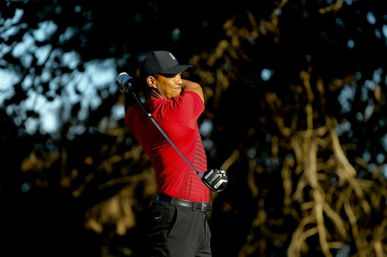 Woods struggled off the tee on his comeback to the PGA Tour at Torrey Pines