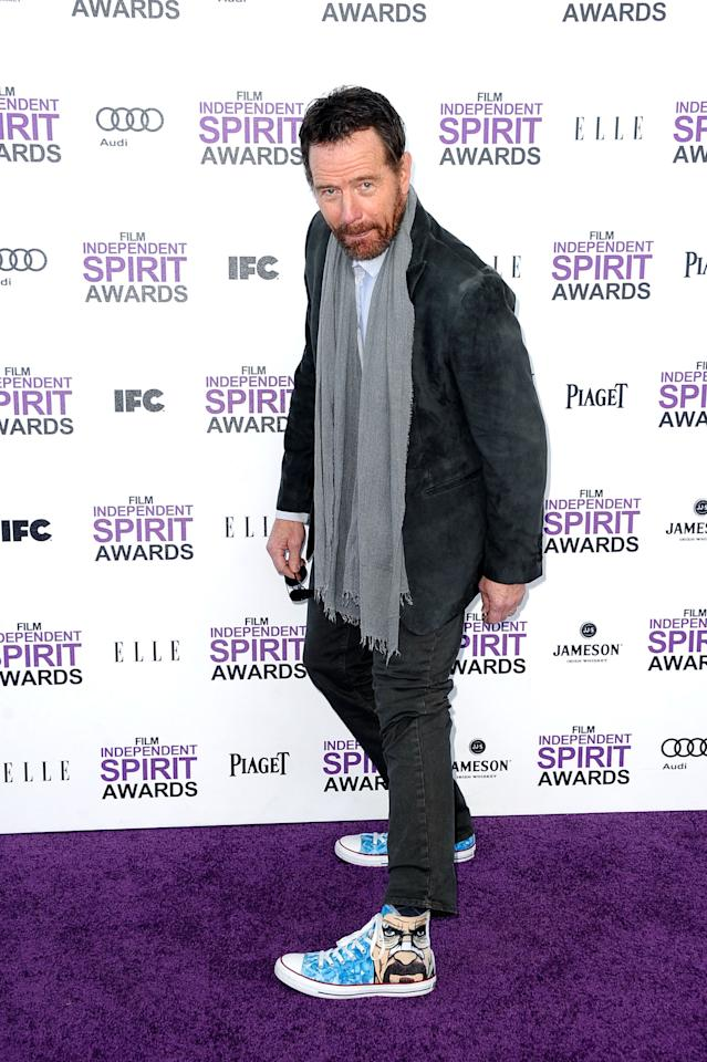 SANTA MONICA, CA - FEBRUARY 25:  Actor Bryan Cranston arrives at the 2012 Film Independent Spirit Awards on February 25, 2012 in Santa Monica, California.  (Photo by Frazer Harrison/Getty Images)