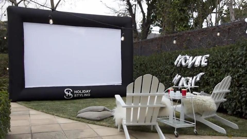 This ginormous inflatable screen might be full of hot air...but this offer isn't. (Photo: Amazon)