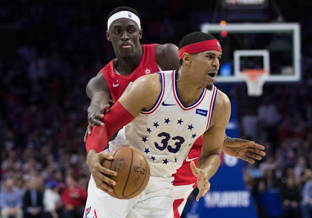 Tobias Harris is reportedly staying in Philadelphia. (Reuters)