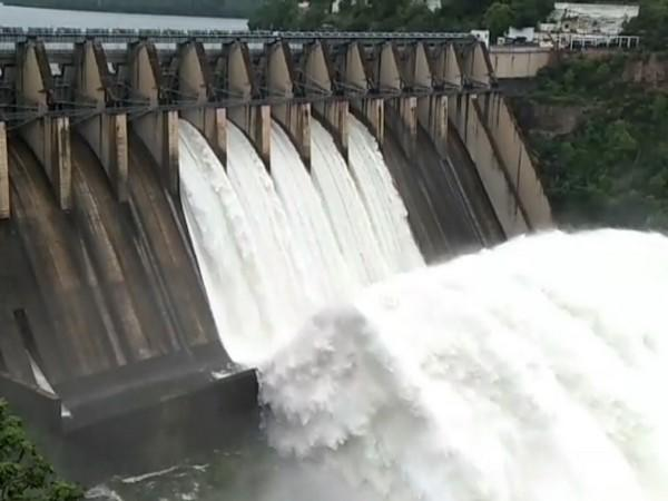 A visual from Srisailam reservoir in Andhra Pradesh's Kurnool district on Thursday. Photo/ANI