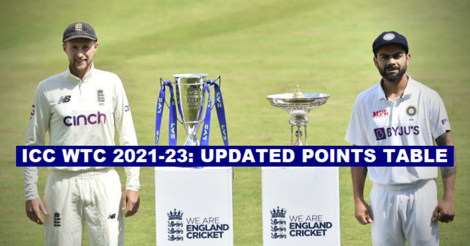 ICC World Test Championship 2021-23: Updated Points Table After The 3rd Test Between England And India