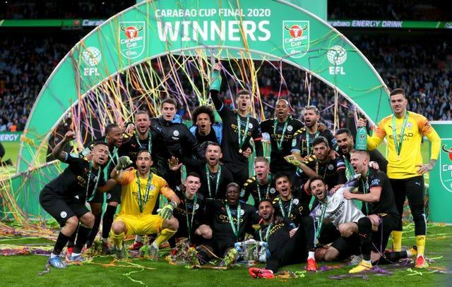 City claimed a third successive League Cup win in 2020