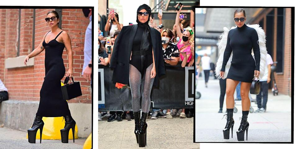 """<p>Extravagant, provocative, slightly bonkers: <a href=""""http://www.elleuk.com/star-style/news/lady-gaga-g.u.y-music-video-short-film-artpop-album"""" rel=""""nofollow noopener"""" target=""""_blank"""" data-ylk=""""slk:Lady Gaga"""" class=""""link rapid-noclick-resp"""">Lady Gaga</a> knows no limits.</p><p>Lobster head gear, burning cigarette sunglasses and tin can rollers are just every day accessories for this style maverick...</p>"""