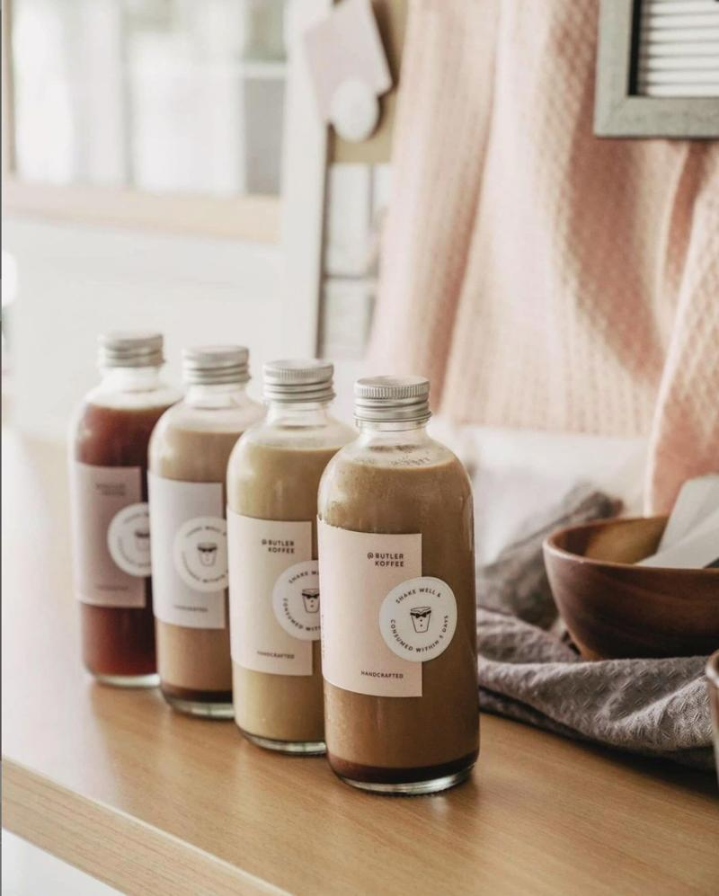 Bottles of coffee from Butler Koffee