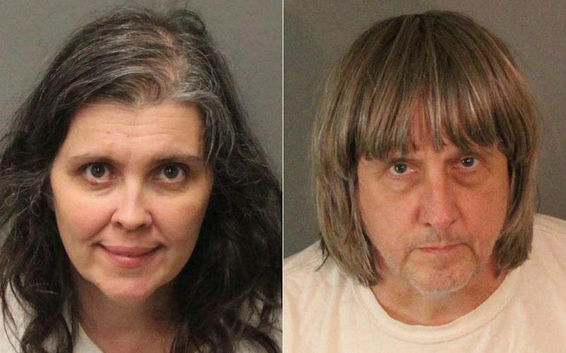 Louise and David Turpin will serve 25 years in prison before they're eligible for parole - AFP