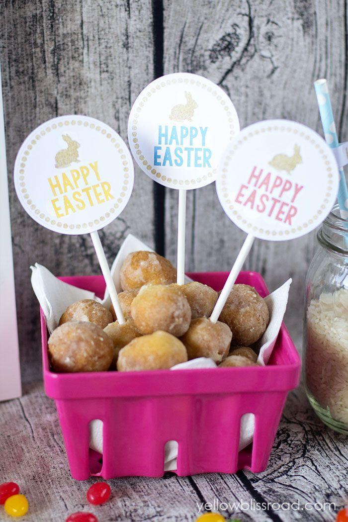 "<p>Leave no detail untouched! These miniature signs were made using free printables. </p><p><strong>Get the tutorial at <a href=""http://www.yellowblissroad.com/free-printable-easter-party-pack/"" rel=""nofollow noopener"" target=""_blank"" data-ylk=""slk:Yellow Bliss Road"" class=""link rapid-noclick-resp"">Yellow Bliss Road</a></strong>.</p>"