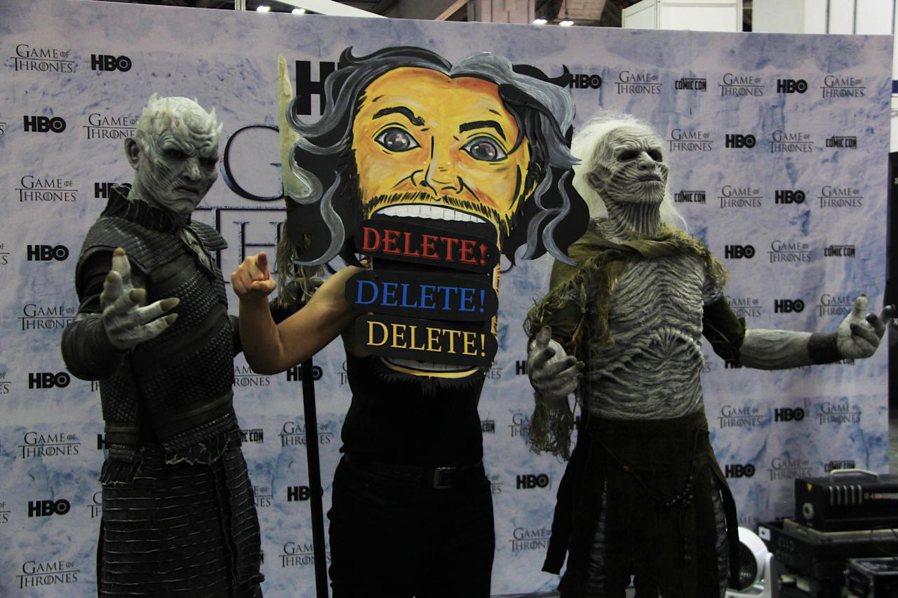 "<p>Aliff Hurairah, cosplaying as ""Woken"" Matt Hardy, posing with ""Game of Thrones"" cosplayers at the Singapore Toy, Game and Comic Convention (STGCC) 2018 (PHOTO: Abdul Rahman Azhari/Yahoo Lifestyle Singapore) </p>"