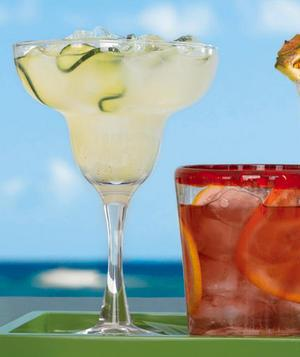 <p>Opposites attract in this clever tweak on the classic margarita—with cool cucumber offsetting the heat of cayenne pepper. </p>
