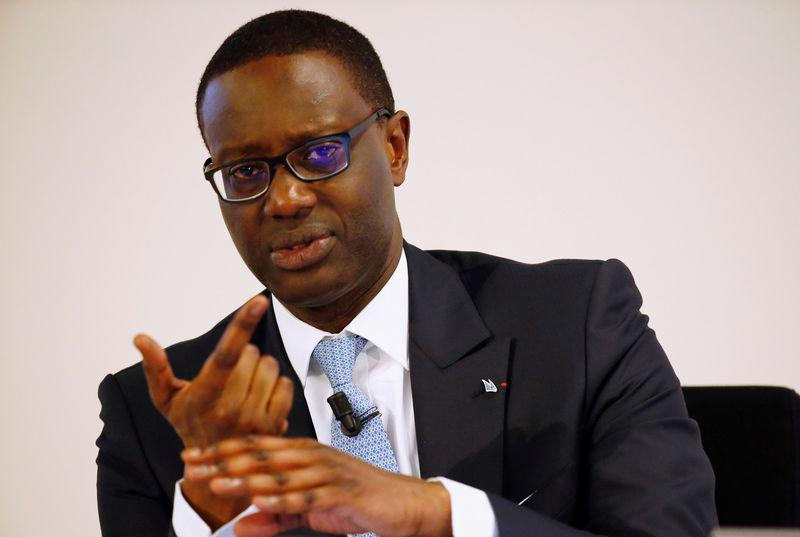 CEO Thiam of Swiss bank Credit Suisse speaks to the media during a news conference in Zurich