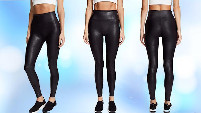 Style-savvy shoppers can't stop singing the praises of these flattering faux leather leggings.
