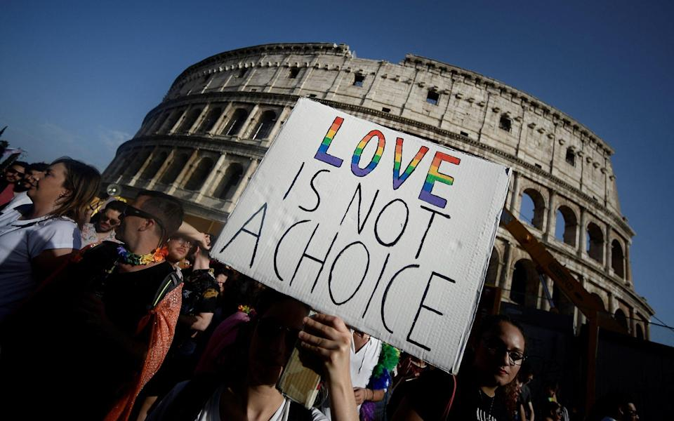 The annual Gay Pride parade in Rome - file photo taken in June 2019 - AFP