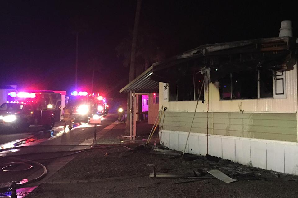 The man's home was destroyed (Picture: Caters)