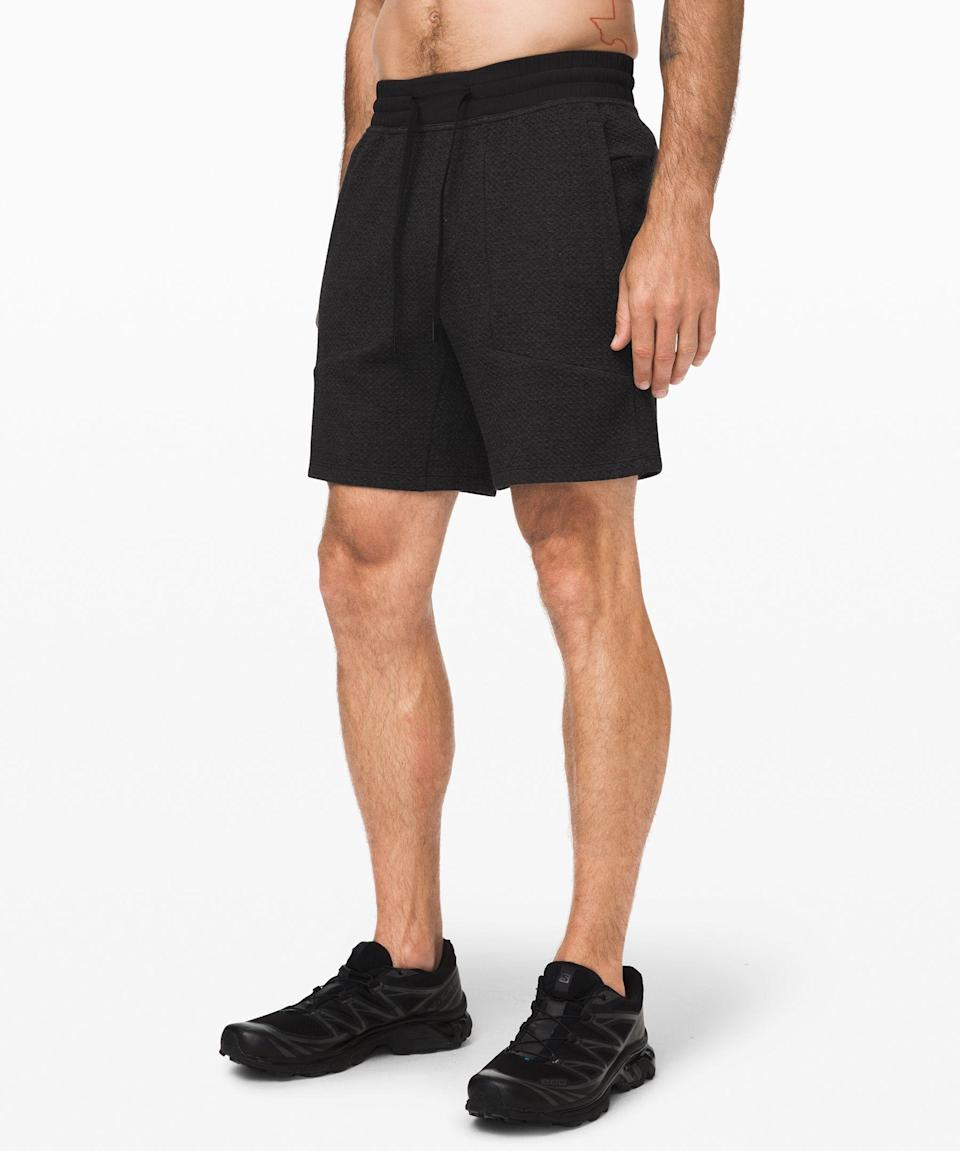 """<p><strong>Lululemon</strong></p><p>lululemon.com</p><p><strong>$78.00</strong></p><p><a href=""""https://go.redirectingat.com?id=74968X1596630&url=https%3A%2F%2Fshop.lululemon.com%2Fp%2Fmen-shorts%2FAt-Ease-Short%2F_%2Fprod9600641&sref=https%3A%2F%2Fwww.goodhousekeeping.com%2Fholidays%2Ffathers-day%2Fg32369331%2Ffathers-day-gifts-from-wife%2F"""" rel=""""nofollow noopener"""" target=""""_blank"""" data-ylk=""""slk:Shop Now"""" class=""""link rapid-noclick-resp"""">Shop Now</a></p><p>He's got plenty of workout clothes, but what about sweats that don't look, well, lived in? These soft shorts have a relaxed fit, making them a must for lazy Sundays. </p>"""