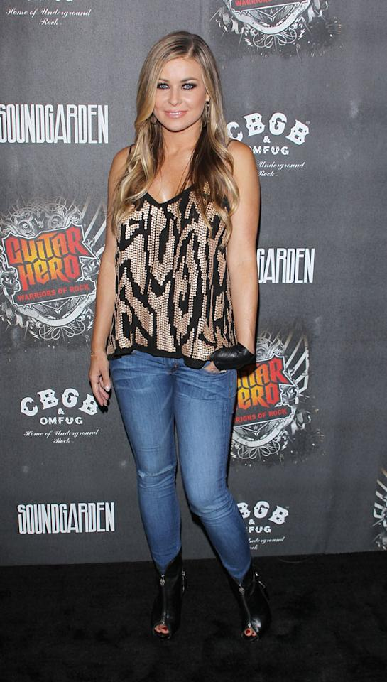 "Former ""Baywatch"" babe Carmen Electra and other celebs rocked out at the launch party for the new ""Guitar Hero: Warriors of Rock"" video game Monday at Paramount Studios in LA. Michael Tran/<a href=""http://www.filmmagic.com/"" target=""new"">FilmMagic.com</a> - September 27, 2010"
