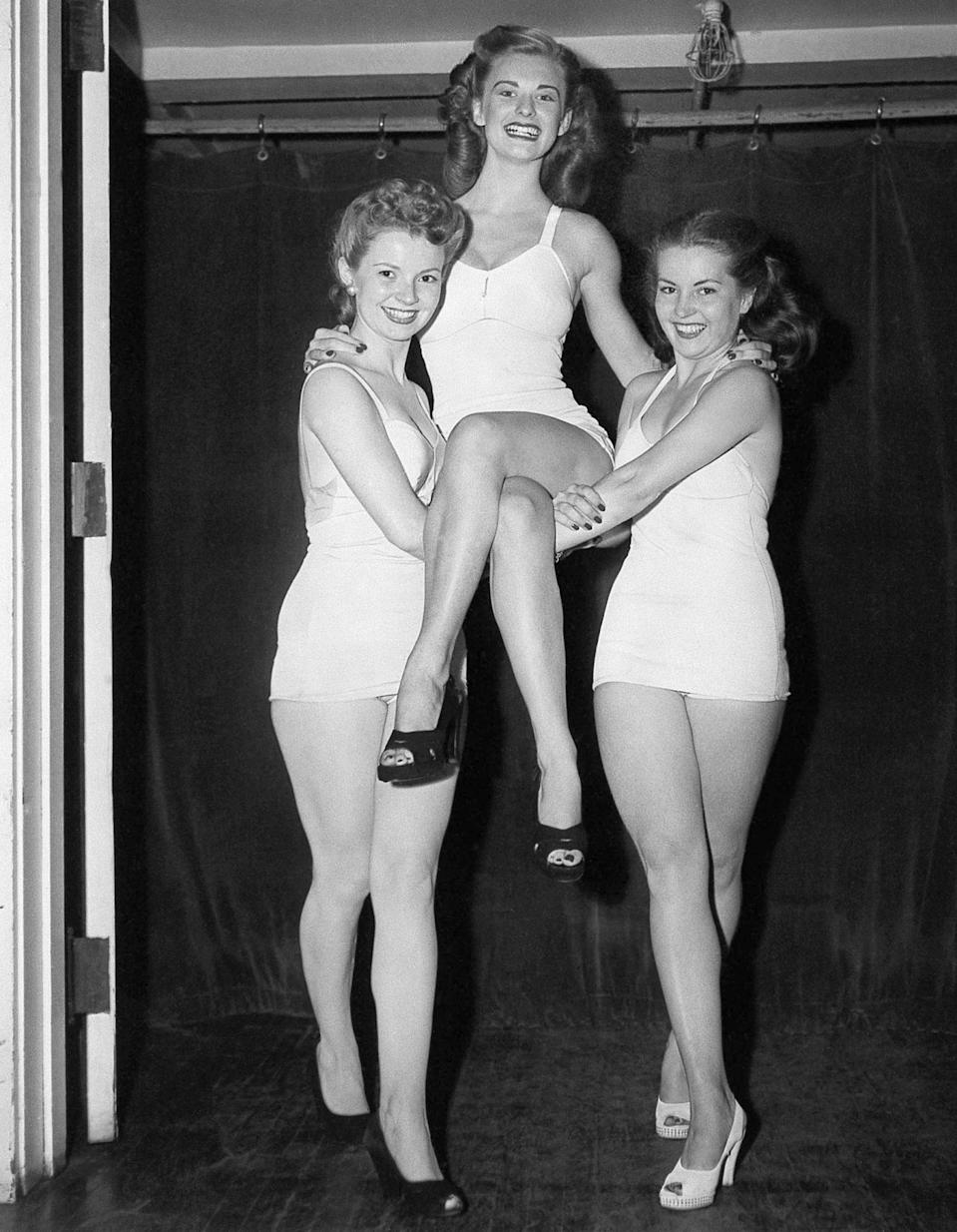 "<p>In college, Leachman set off for Atlantic City, and as Miss Chicago, she was one of the finalists in the 1946 Miss America pageant.</p> <p>""It was really fun,"" she told PEOPLE in 2008. ""You had to get yourself together — do your own makeup, your own hair and what you were going to wear. My mother was with me the whole time. My father came the last two days [of the competition]."" </p>"