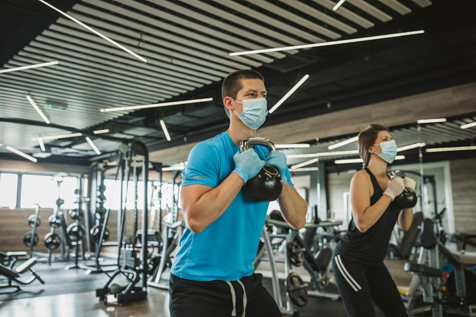 The prime minister said gyms 'could' be able to reopen in two weeks' time. (Getty)