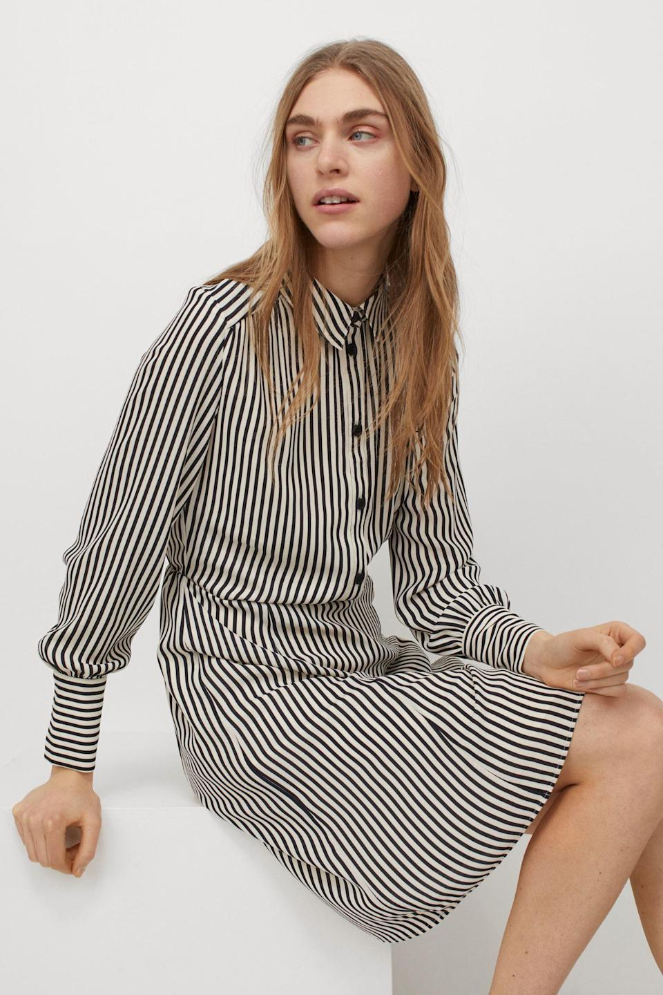 <p>This <span>H&amp;M Shirt Dress</span> ($35) is perfect for the office or afterwork happy hours.</p>