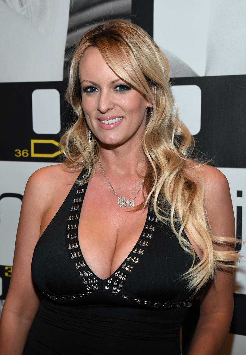 Stephanie Clifford,aka Stormy Daniels, at the AVN Adult Entertainment Expo in Las Vegas on Jan. 18, 2017. (Ethan Miller via Getty Images)