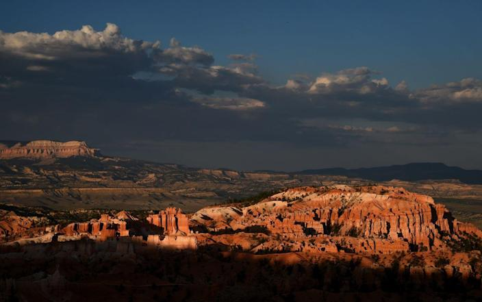 <p>The sun sets on the Bryce Amphitheater in Bryce Canyon National Park, Utah. // August 12, 2016</p>