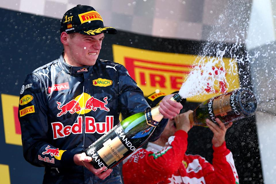Verstappen won his first grand prix as a Red Bull driver in Spain in 2016. (Credit: Getty Images)