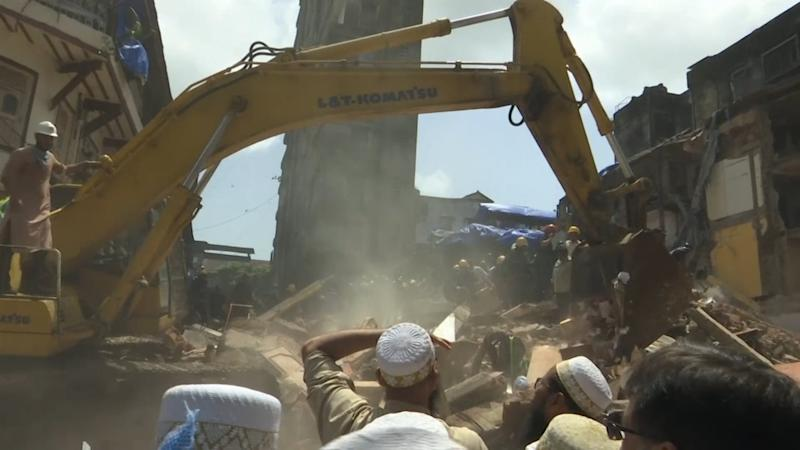 Mumbai building collapse kills at least 12 people amid severe flooding