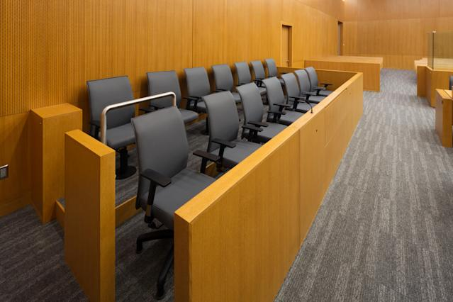 Smaller juries and virtual proceedings could be necessary if jury trials are able to resume post-lockdown. (Getty)