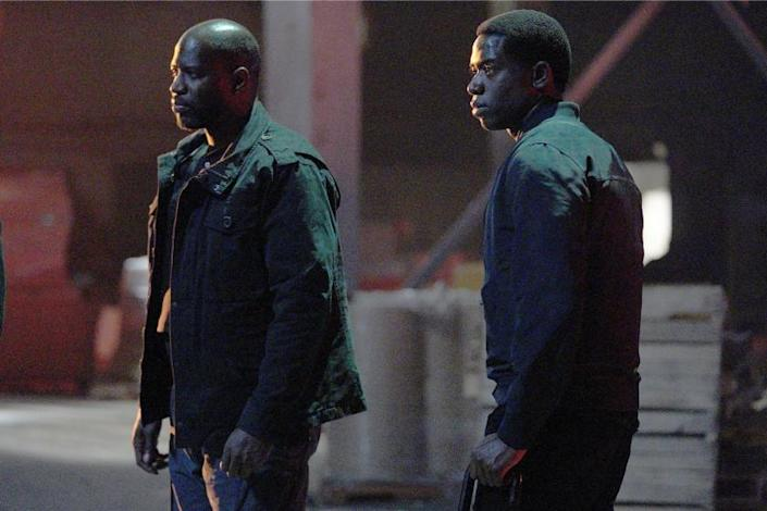 "Snowfall -- Fx TV Series, SNOWFALL ""The Weight"" -- Season 4, Episode 2 (Airs Wednesday, February 24) -- Pictured: (l-r) Kwame Patterson as Lurp, Damson Idris as Franklin Saint. CR: Byron Cohen/FX Kwame Patterson, left, and Damson Idris in ""Snowfall"" on Fx."