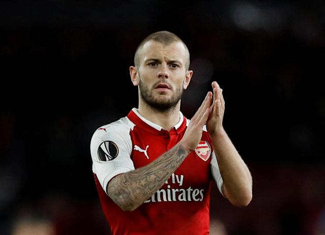FILE PHOTO: Arsenal's Jack Wilshere after Europa League match against Atletico Madrid at the Emirates Stadium, London, Britain - April 26, 2018. Action Images via Reuters/Andrew Couldridge/File Photo