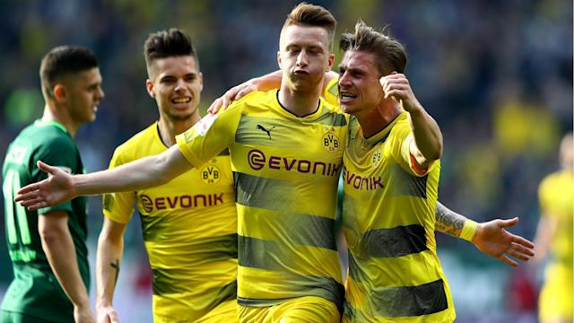 Marco Reus scored his sixth Bundesliga goal of the season but Borussia Dortmund had to settle for a point at the Weser-Stadion.