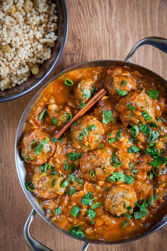 """<p>Ground lamb and a medley of spices team up for this exotic twist. Serve with all the couscous!</p><p><em><a href=""""http://www.eatthelove.com/2014/10/mediterranean-meatballs/"""" rel=""""nofollow noopener"""" target=""""_blank"""" data-ylk=""""slk:Get the recipe from Eat the Love »"""" class=""""link rapid-noclick-resp""""><span class=""""redactor-invisible-space"""">Get the recipe from Eat the Love »</span> </a></em></p>"""