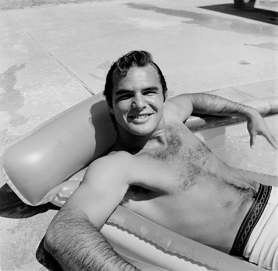 <p>Well, Burt Reynolds, it appears you've won the chest hair competition. Who can compete with that confidence?</p>