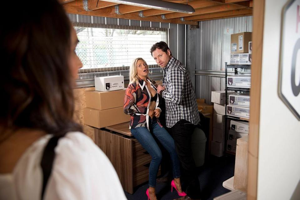 <p>Amy and Shane are found in a compromising position.</p>