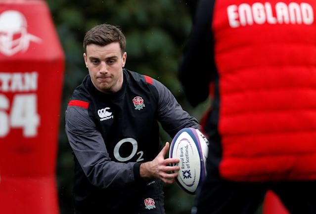 Rugby Union - England Training - Pennyhill Park, Bagshot, Britain - February 20, 2018 England's George Ford during training Action Images via Reuters/Paul Childs