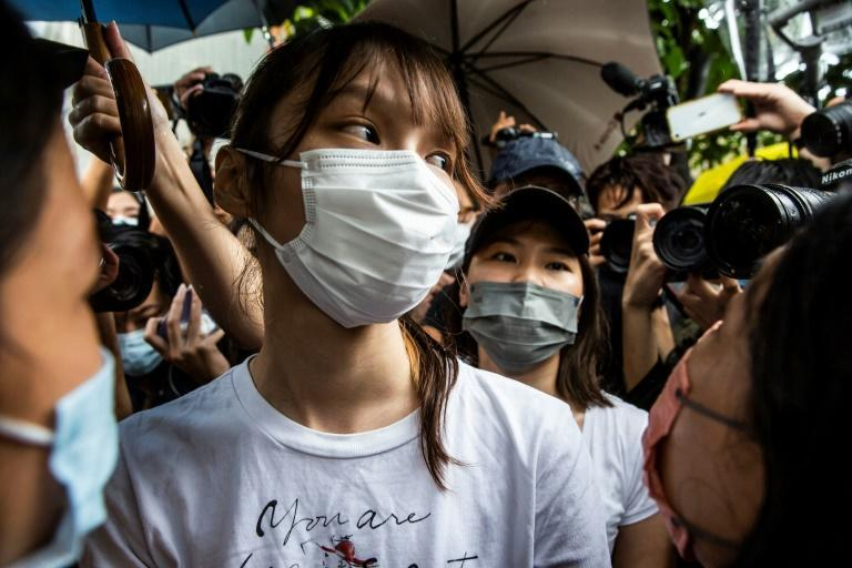Agnes Chow served just under seven months behind bars for her role in an 'unlawful assembly'