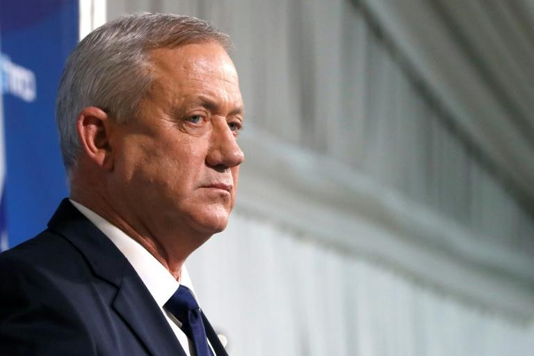 Netanyahu's main challenger Benny Gantz is a former military chief who argues that the premier's legal woes will distract him from governing (AFP Photo/JACK GUEZ)