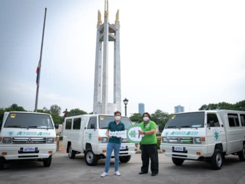 The turnover ceremony was held at the Quezon Memorial Circle