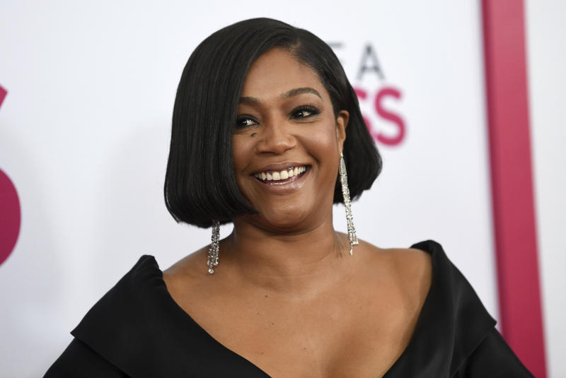 """Actress Tiffany Haddish attends the world premiere of """"Like a Boss"""" at the SVA Theatre on Tuesday, Jan. 7, 2020, in New York. (Photo by Evan Agostini/Invision/AP)"""