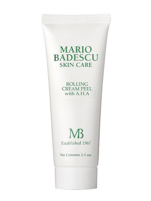 "<p>Rolling Cream Peel with A.H.A., $18, <a rel=""nofollow"" href=""https://www.mariobadescu.com/product/rolling-cream-peel-with-aha""><u>mariobadescu.com</u></a>.<span></span></p>"