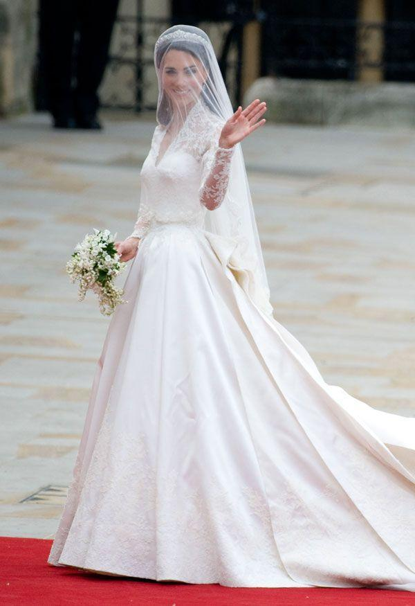 <p>Does it need mentioning? The Duchess of Cambridge was a stunning bride in a white Alexander McQueen gown.</p>