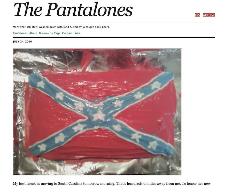 Confederate Flag Cake